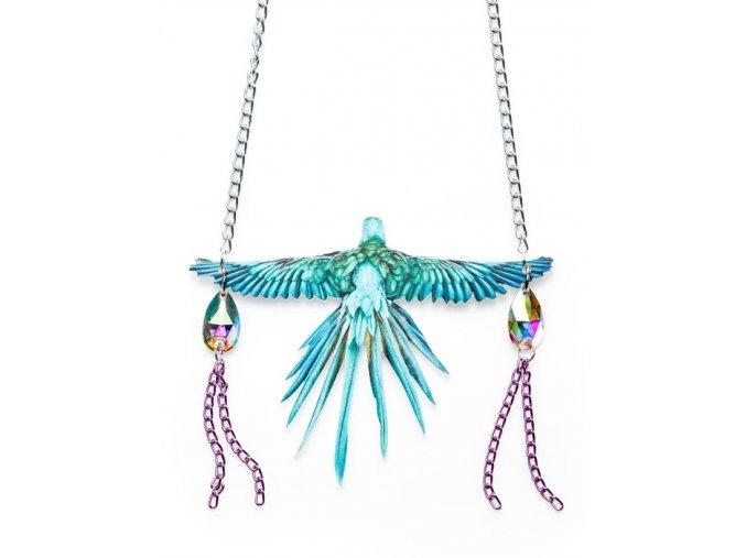 Suzywan Deluxe - Dámský náhrdelník - Papoušek modrý PAP1