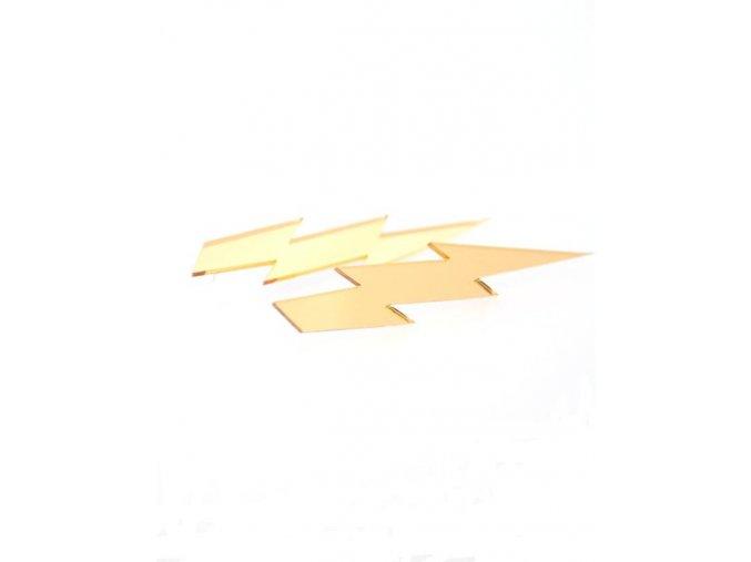 Suzywan Deluxe Náušnice dámské  Blesky zlaté plast BL3