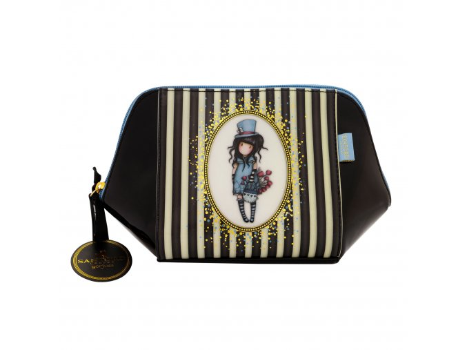 763GJ01 Gorjuss Stripes Large Structured Accessory Case The Hatter 1 WR