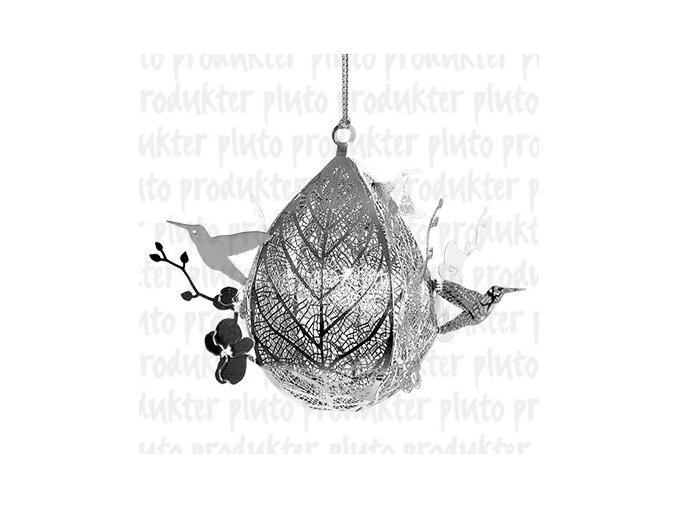 Ozdoba  vánoční kolibřík - stříbrná - Pluto