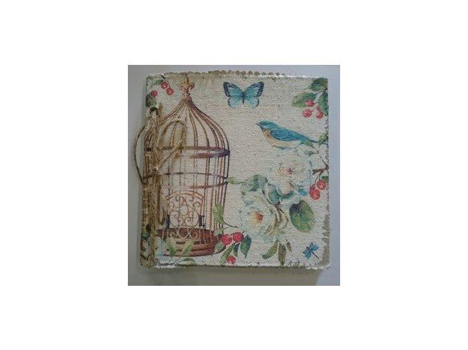 Zápisník - památník ptáček - A4 - Clayre & Eef