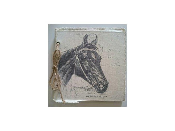 Zápisník - památník  kůň černý A4 - Clayre & Eef