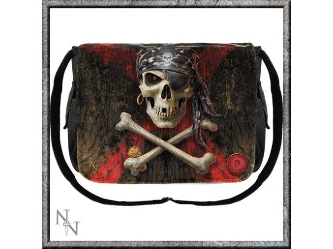 Taška přes rameno Nemesis now  pirát - černá