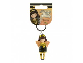 santoro gorjuss moulded key ring bee loved just bee cause