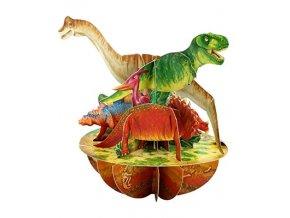 santoro pirouettes dinosaurs 3d pop up card ps063