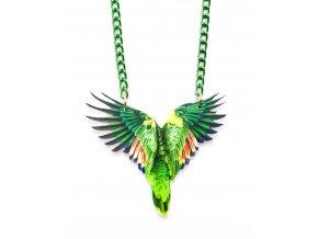 Suzywan Deluxe - dámský náhrdelník - Papoušek zelený -PAP2