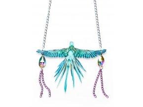náhrdelník Papoušek modrý