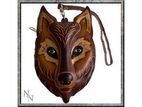 Peněženka kožená vlk