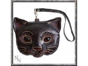 Peněženka kožená kočka
