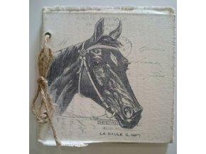 Zápisník - památník  kůň černý