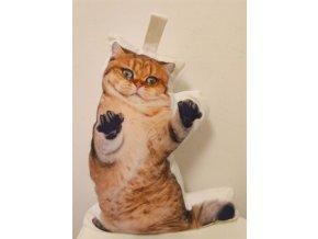 Dveřní zarážka  bojující kočka