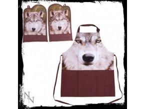 Zástěra vlk  + chňapky