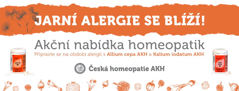 AKCE - homeopatické produkty užívané při pylové alergii