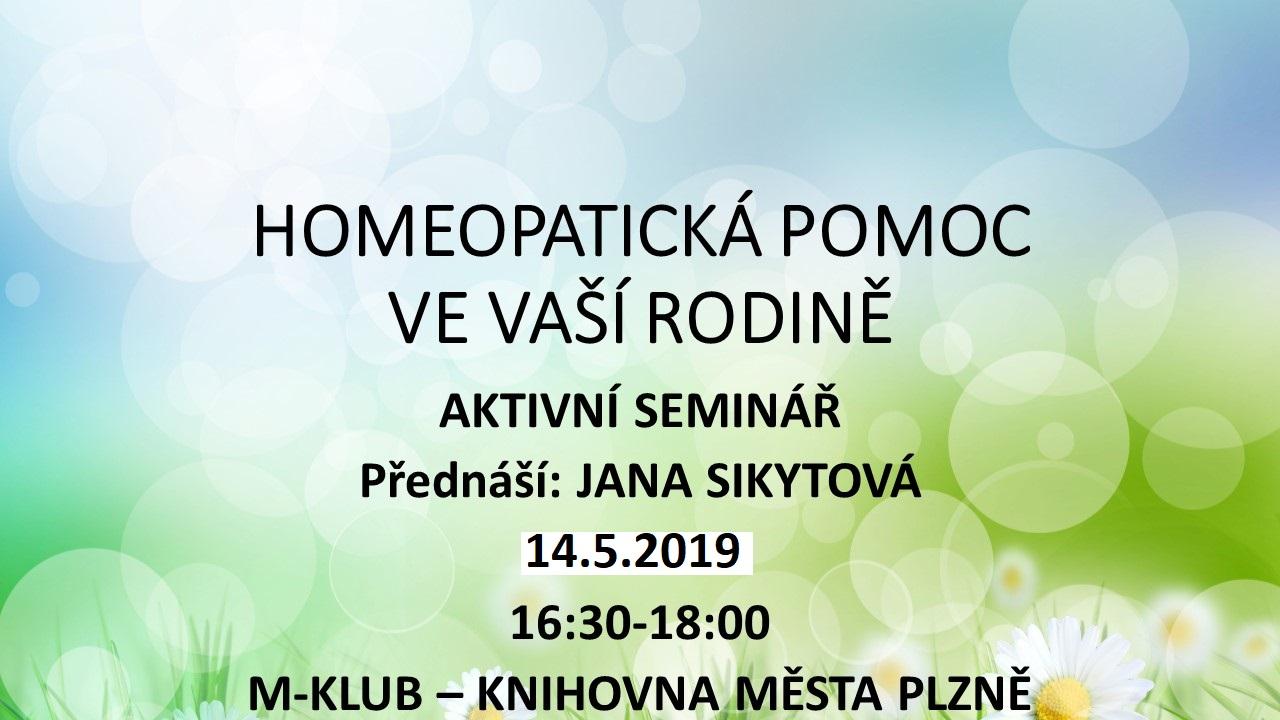 Aktivní seminář - homeopatie - Plzeň