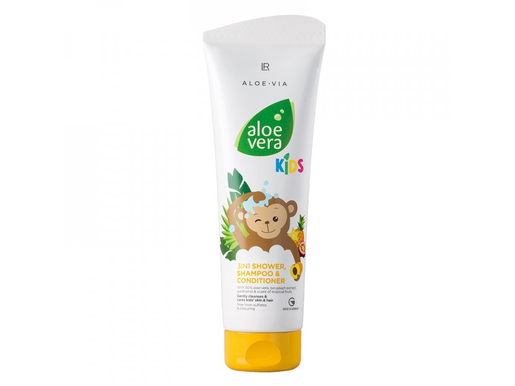 LR Aloe Vera Jungle Friends 3in1 Šampón, kondicionér & sprchový gel 250 ml
