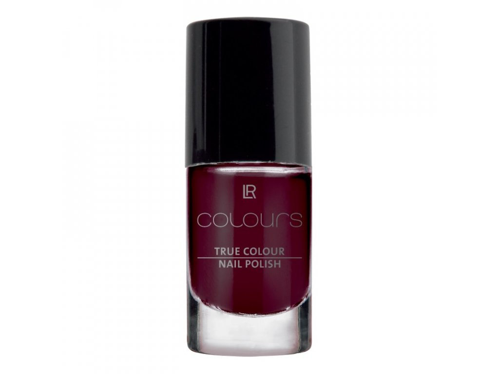 LR Colours Lak na nechty True Colour (odtieň Black Cherry) 5,5 ml