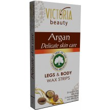 Victoria Beauty Depilačné pásiky na telo s arganovým olejom