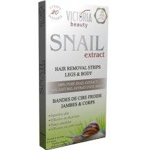 Victoria Beauty Snail Extract  Depilačné pásiky na telo so slimačím extraktom