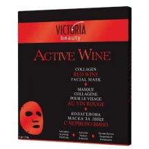 Victoria Beauty Kolagénová pleťová maska s výťažkom z červeného vína, 1ks
