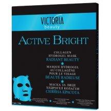 Victoria Beauty Rozjasňujúca kolagénová pleťová maska , 2 ks