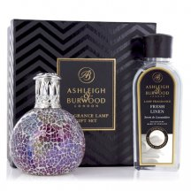 Ashleigh & Burwood Darčekové balenie Malá katalytická lampa PEARLSCENCE s vonnou esenciou FRESH LINEN ,250 ml