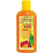 Logona KIDS - Sprchový gél a šampón Broskyňa