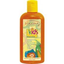 LOGONA KIDS  - Detské telové mlieko Broskyňa