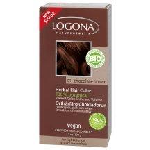 Logona - Prášková farba na vlasy – Chocolate Brown