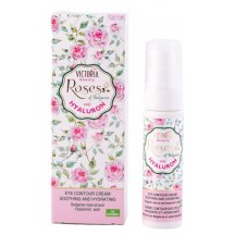 Victoria Beauty Roses and Hyaluron Hydratačný očný krém s ružovým olejom a kyselinou hyalurónovou, 30 ml