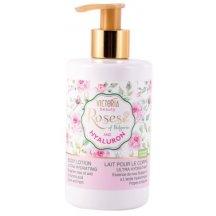 Victoria Beauty Roses and Hyaluron Telové mlieko s ružovým olejom a kyselinou hyalurónovou, 250 ml