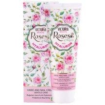 Victoria Beauty Roses and Hyaluron Krém na ruky a nechty s ružovým olejom a kyselinou hyalurónovou, 100 ml