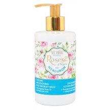 Victoria Beauty Roses and Hyaluron Ochladzujúci telový balzam s ružovým olejom a kyselinou hyalurónovou, 250 ml