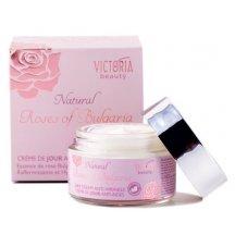 Victoria Beauty Natural Roses Protivráskový denný krém s ružovým olejom, 50 ml