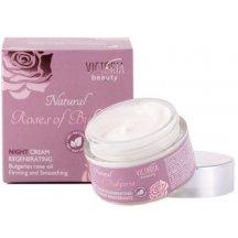 Victoria Beauty Natural Roses Regeneračný nočný krém s ružovým olejom, 50 ml