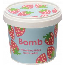 Bomb Cosmetics Strawberry Fields Shower Polish sprchový peeling, 365ml