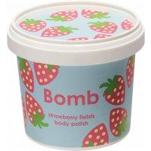 Bomb Cosmetics Strawberry Fields Shower Polish sprchový peeling, 365ml