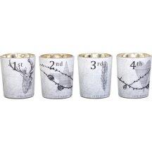 Lene Bjerre Sklenené adventné svietniky na čajové sviečky