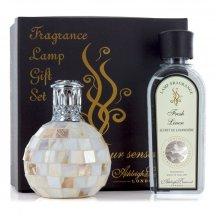 Ashleigh & Burwood Darčekové balenie Malá katalytická lampa ARCTIC TUNDRA s vôňou FRESH LINEN(čisté prádlo) 250 ml