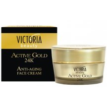 Victoria Beauty Active gold 24K Pleťový krém so zlatom proti starnutiu, 50 ml