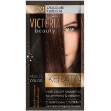 Victoria Beauty Keratin Therapy Tónovací šampón na vlasy V 20, Chocolate, 4-8 umytí