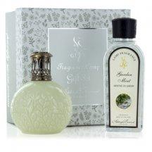 Ashleigh & Burwood Darčekové balenie Malá katalytická lampa OLIVE BRANCH s vôňou GARDEN MINT (záhradné mäta)
