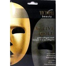Victoria Beauty Active gold 24K Zlatá kolagénová maska