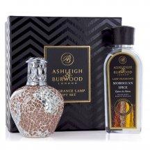 Ashleigh & Burwood Darčekové balenie Malá katalytická lampa APRICOT SHIMMER s vôňou MORROCO SPICE (marocké korenie)