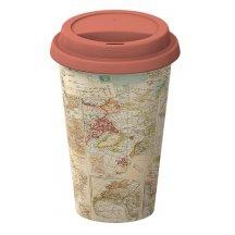 Creativ Tops Cestovný hrnček porcelánový Atlas , 350 ml