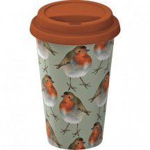 Creativ Tops Cestovný hrnček porcelánový Robin, 290 ml