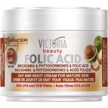 Victoria Beauty Folic Acid Denný a Nočný krém s makadamiovým olejom 60+, 50ml