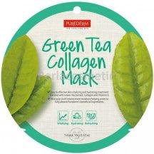 Purederm Pleťová buničitá maska so zeleným čajem a kolegénom, 18 g