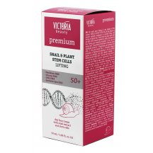 Victoria Beauty PREMIUM SNAIL & PLANT STEM CELLS Denný liftingový krém so slimačím extraktom 50 + , 50 ml