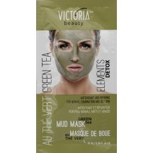 Victoria Beauty DETOX Mud Bahenná maska Zelený čaj, 10 ml