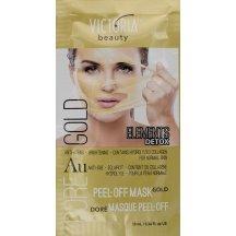 Victoria Beauty DETOX Gold (zlatá) Zlupovacia maska s kolagénom, 10 ml